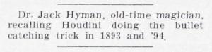 Chamada da revista Genii de 1937, apresentando a entrevista de Jack Hyman.