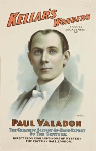 Cartaz mostrando Paul Valadon como o suscessor de Kellar.