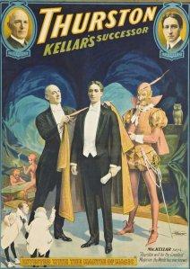 Cartaz mostrando a sucessão de Kellar por Thurston