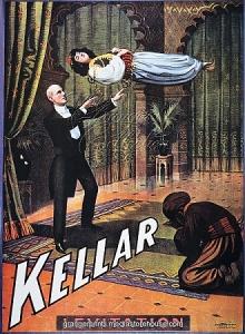 """Cartaz mostrando o show de Kellar: """"A Levitação da Princesa Karnac"""""""