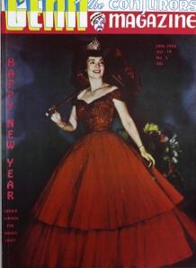 Genii Magazine, janeiro de 1955. Primeira capa colorida.