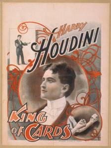 1895 - Harry Houdini, king of cards