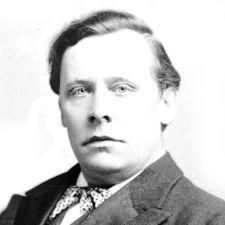 """Bottomley, editor da revista """"John Bull"""" que desafiu os falsos médiuns ingleses."""