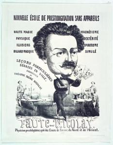 FIGURA 2 - Cartaz da escola de prestidigitação de Faure Nicolay (1855)