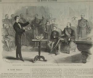 FIGURA 4 - Nicolay se apresenta à Napoleão III - Monde Illustre de 10.07.1869 (Clique na imagem para ampliá-la)