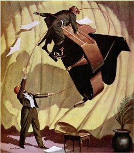 A levitação de Onaip (fonte: revista Popular Mechanics, dezembro de 1958).