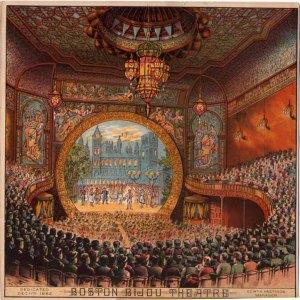 Gravura do Bijou Theater de 1883 (Clique na imagem para ampliá-la)