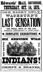 Cartaz anunciando um show de Oeste Selvagem (Clique na imagem para ampliá-la)