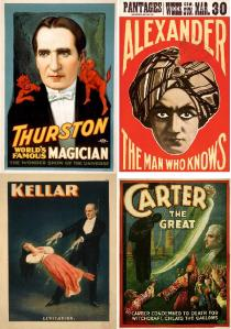Alguns mágicos que fizeram parte do vaudeville (Clique na imagem para ampliá-la)