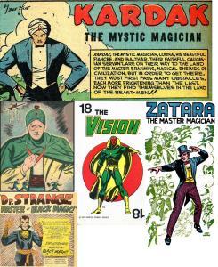 Super heróis mágicos, baseados em Mandrake