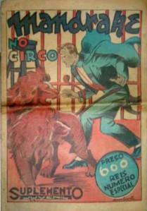 Exemplar da Revista Suplemento Juvenil, a precursora das histórias de Mandrake de 1937