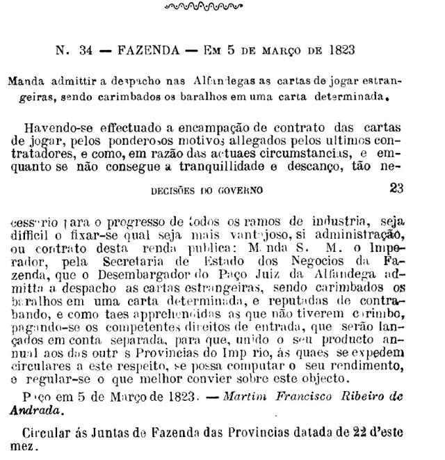 decreto 34 de 1823